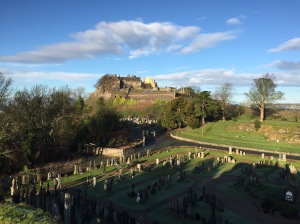 Stirling Castle as seen from Church of the Holy Rood.