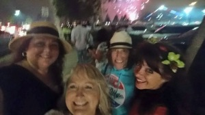 Lisa was right! The front porch of the Embassy Suites is the perfect place to see the fireworks!