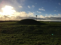 One of the burial mounds at the Hill of Tara