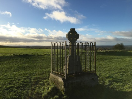 Stunning views of the countryside and random monuments at the Hill of Tara