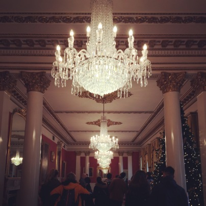 I want to live somewhere that is only illuminated by Waterford crystal chandeliers.